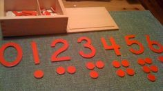 DIY Montessori Cut-Out Numerals and Counters