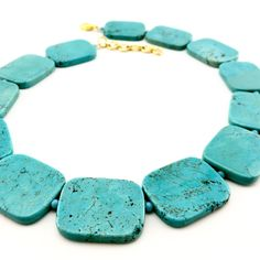 Your place to buy and sell all things handmade Turquoise Stone, Turquoise Jewelry, Turquoise Bracelet, Blue Square, Agate Beads, Semi Precious Gemstones, Stone Beads, Shopping Mall, Promotion