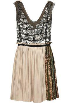 Phillip Lim Sequined Silk Dress in Beige (sand) - Lyst Look Fashion, Fashion Beauty, Womens Fashion, Fashion Shoes, Girl Fashion, Looks Style, My Style, Bon Look, Modelos Fashion