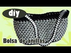 Como hacer una bolsa con anillas de lata: Bolsa Interesante Parte 1
