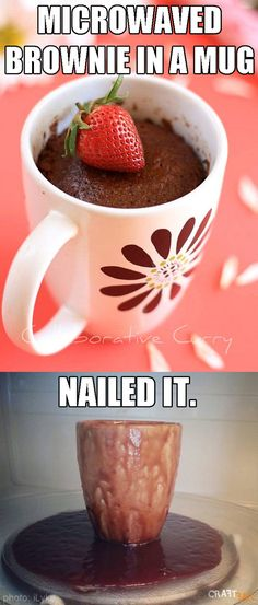 This mug brownie that just wasn't meant to be: | 31 Foods That Failed So Hard They Almost Won In 2014
