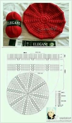Crochet Beret Pattern, Bonnet Crochet, Crochet Cap, Crochet Shoes, Crochet Beanie, Crochet Clothes, Crochet Stitches, Free Crochet, Knitted Hats