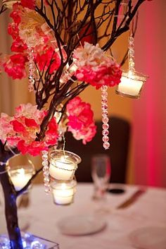Natural Manzanita Branhces - http://www.nettletonhollow.com/Natural-Manzanita-Branches-p/manzanita-branches-natural.htm - and Hydrangea Centerpiece with Votives - http://www.nettletonhollow.com/Preserved-Hydrangeas-s/1829.htm