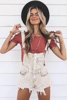 Far From Over Taupe Denim Overalls - Amazing Lace