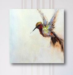 Original oil painting hummingbird by AmandaFaubusFineArt on Etsy #OilPaintingOleo #OilPaintingIdeas