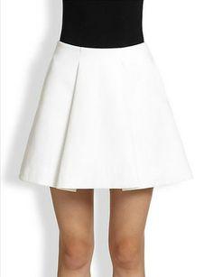 3.1 PHILLIP LIM Sateen Sculpted Flirty Skirt
