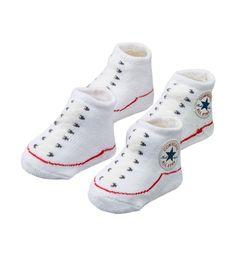 Converse Baby Bootie Socks - White