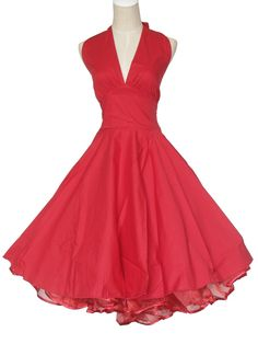 Vintage Dancing Party Ball Prom Swing Jive Rockabilly Dresses Skirt 50s Cotton S