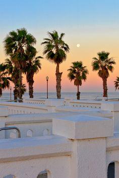 Oceanside California pier at dawn