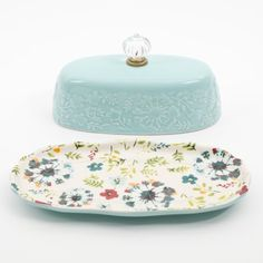The Pioneer Woman Kari Butter Dish Ethel Merman, Pioneer Women, Four Kids, Table Accessories, Women Lifestyle, Stick Of Butter, Fine China, Butter Dish, Home Projects