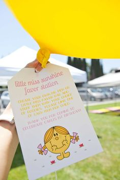 Little Miss Sunshine Birthday Party Ideas | Photo 8 of 34 | Catch My Party