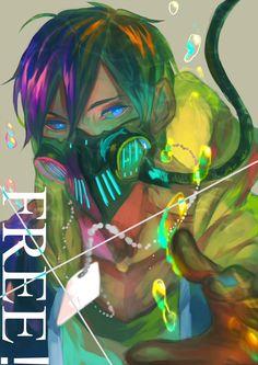 Iwatobi Swim Club and Tokyo Ghoul Art Manga, Chica Anime Manga, Anime Guys, Anime Art, Happy Tree Friends, High Fantasy, Anime Style, Anime Mascaras, Cyberpunk