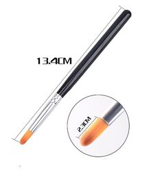 New Nail Art Brush Pen UV Gel 3D Effect Nail Tools DIY Painting Manicure Pedicure Gradient Round Tip 2017 New Hot Sale Xmas Gift