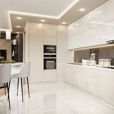 How To Incorporate Contemporary Style Kitchen Designs In Your Home Kitchen Room Design, Luxury Kitchen Design, Kitchen Cabinet Design, Luxury Kitchens, Home Decor Kitchen, Interior Design Kitchen, Modern Kitchens, Rustic Kitchen, Kitchen Designs