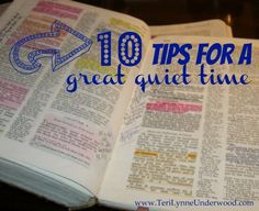 tips for a great quiet time www.TeriLynneUnderwood.com