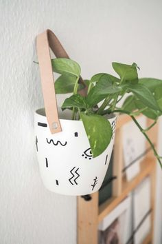 Hanging Plants, Potted Plants, Diy Hanging, The Moon Today, Diy Academy, Culinary Arts, Design Model, Planter Pots, Diy Crafts