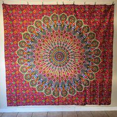 Mandala Tapestry / Mandala Wall Hanging / Mandala Bedspread / Mandala Wrap…