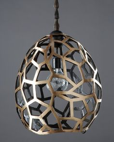 Lattice Pendant - would love to see it lit up via Miranda Mol