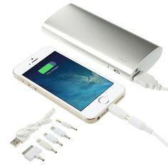 Power bank 13000 mah 1 puerto USB con accesorios c/linterna