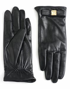 Gifts For Her | Winter Accessories | Pyramid Bow Leather Gloves | Lord and Taylor