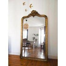 Très grand miroir du XIXième siècle vintage ancien #miroir #grand ...