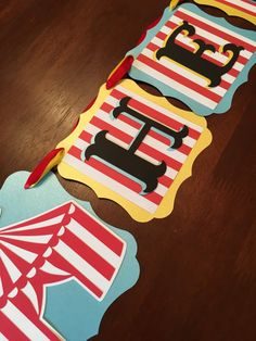 Circus Banner Circus Party Banner Carnival Birthday Banner