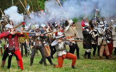 15th century handgunners, annual  reenactment called the battle of Libušín…