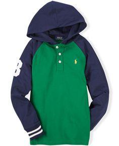 Ralph Lauren Boys' Raglan Pullover Hoodie