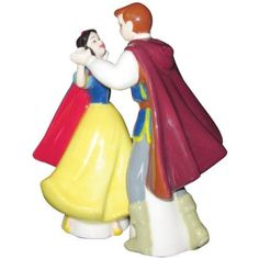 Westland Giftware Life According to Disney Princesses Snow White and The Prince Dance 4-Inch Magnetic Salt and Pepper Shakers: Amazon.com: Home & Kitchen
