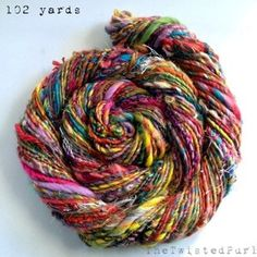 Rainbow Yarn made for @Spinzilla 2013 by The Twisted Purl