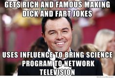 Seth Macfarlane - using America's crude tendencies to make a small margin of them smarter