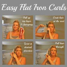 8 Steps to Easy Flat Iron Curls - SomewhatSimple.com #hair