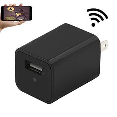 Wifi Wall Charger Adapter Mini Camera,YYCAMUS 1080P HD USB AC Wall Plug Adapter Nanny Cam with Motion Detection #deals