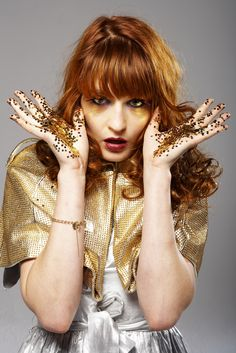 Florence Welch of Florence + The Machine. The woman is INCREDIBLE.