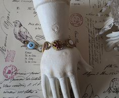 Vintage Jewelry Bracelet Button Assemblage by CharmainesWhimzy