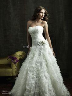 2011 New Sexy Wedding Dress Sweetheart A Line Chiffon