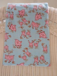 Pigs piggys Baby Blanket Swaddling Receiving by TheCountryBluebird