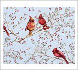 Cardinals on branch - = Doves on Holly...