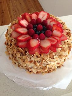 Almond fruit cake