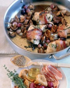 Silky Braised Chicken with Wild Mushrooms and Pearl Onions - MARTHA ...