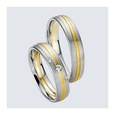 Verighete cu briliante, din aur alb cu aur galben. Saints, Rings For Men, Wedding Rings, Engagement Rings, Aur, Twin, Jewelry, Diamond, Enagement Rings
