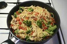 Fotograf:  Per © Alletiders Kogebog Recipes From Heaven, Broccoli, Tapas, Foodies, Spaghetti, Pasta, Ethnic Recipes, Food Heaven, Halloween
