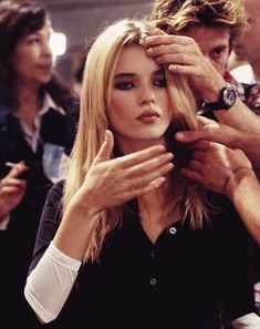 Kate Moss at a Chloé show, 1995. Photo: Juliette Butler.