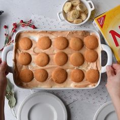 #ad Fun Desserts, Delicious Desserts, Dessert Recipes, Yummy Food, Mexican Food Recipes, Sweet Recipes, Banana Pudding Recipes, Breakfast Dessert, Christmas Baking
