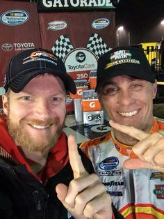 Dale Earnhardt Jr. and Kevin Harvick of J.R, Motor Sports