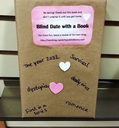 blind date with a book - I like the way this one is set up, with clues.