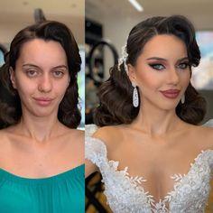 Fall Wedding Makeup, Wedding Makeup For Brown Eyes, Wedding Makeup Artist, Blue Eye Makeup, Bride Makeup, Bridal Hair Down, Kardashian, Blue Eyes Pop, Natural Looks