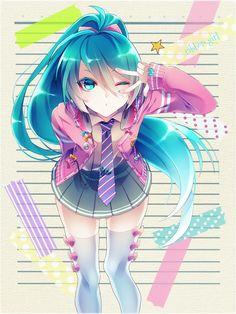 Drawing anime hatsune miku 60 Ideas for 2019 Anime Chibi, Art Anime, Anime Kunst, Anime Art Girl, Manga Anime, Hetalia Anime, Anime Girls, Kawaii Anime Girl, Manga Girl