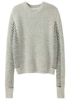 3.1 Phillip Lim / Cropped Mixed Stitch Pullover | La Garçonne