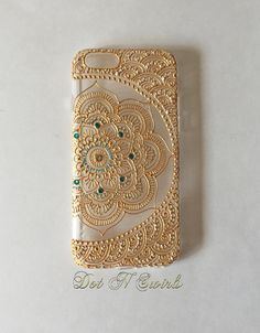I phone X case designed with henna lotus mandala/henna phone case/gold/bling/personalized case/ooak/unique caseI phone 7 case designed with henna lotus by dotnswirls what to get for christmas fun Girl Phone Cases, Diy Phone Case, Iphone Cases, Iphone 7, Apple Iphone, Birthday Presents For Teens, Teen Presents, Birthday Gifts, Henna Mandala